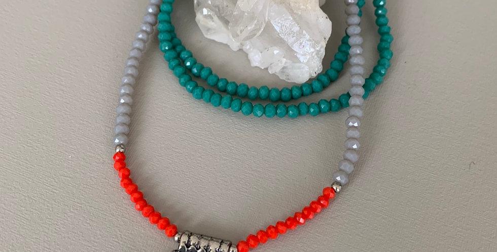 Colar longo cristais color