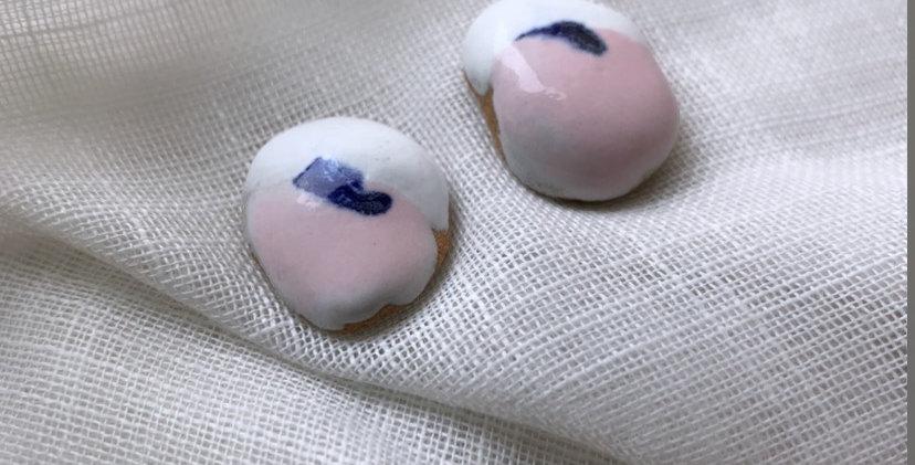 Brinco da Terra/ branco, rosa e azul
