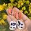 Thumbnail: Brinco Terra cerâmica  orgânica azul, branca e laranja