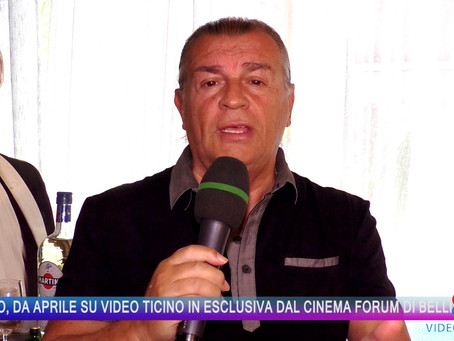 Carlo Sortino lancia il suo Show. Ad Aprile su Video Ticino dal Cinema Forum di Bellinzona