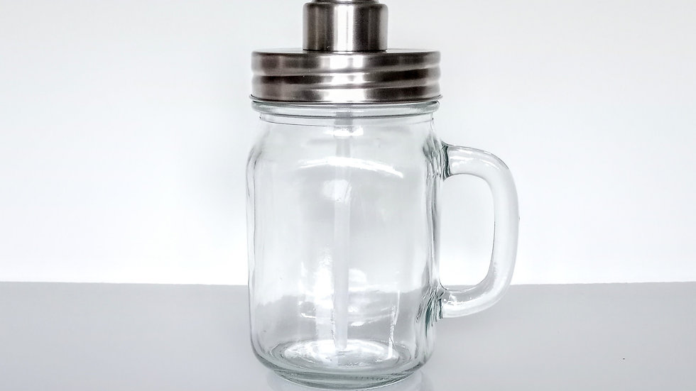 Hand Soap Pump - Stainless Steel and Glass