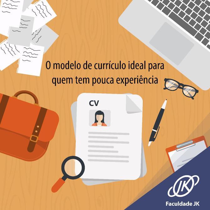 O modelo de currículo ideal para quem tem pouca experiência