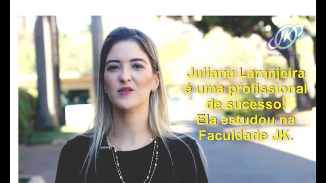 O sucesso não ocorre por acaso. Assista ao depoimento de JULIANA LARANJEIRA, ex-aluna da Faculdade J