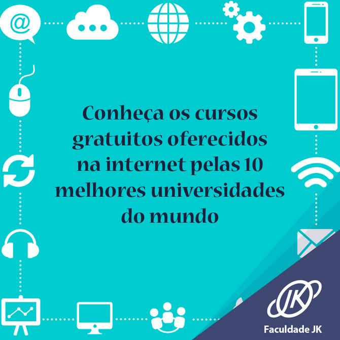 Conheça os cursos gratuitos oferecidos na internet pelas 10 melhores universidades do mundo.