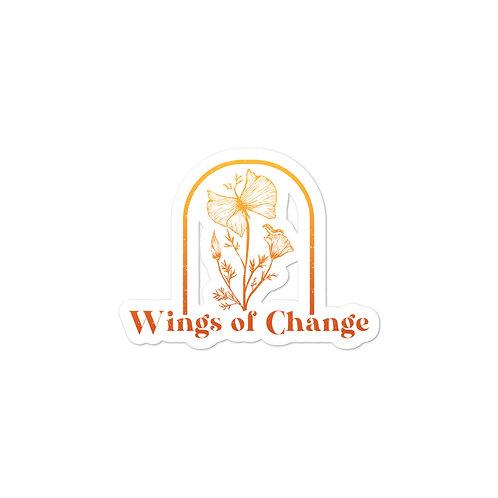 Wings of Change Sticker