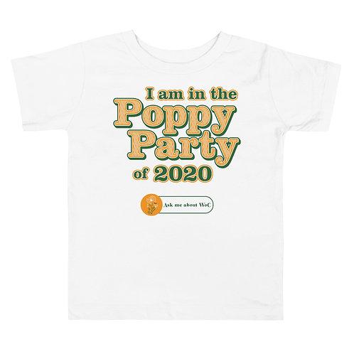 Poppy Party Toddler Short Sleeve Tee