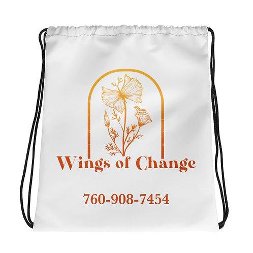 Wings of Change Drawstring bag