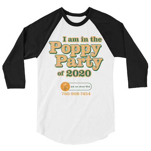 Poppy Party 3/4 Sleeve