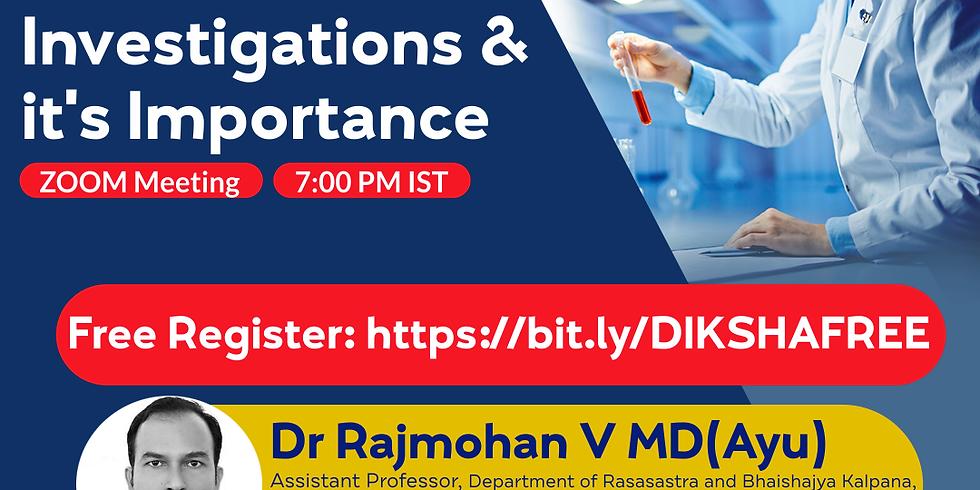 Basics of Blood  Investigations & it's Importance | Dr Rajmohan V MD(Ayu) | Ayurveda College Coimbatore