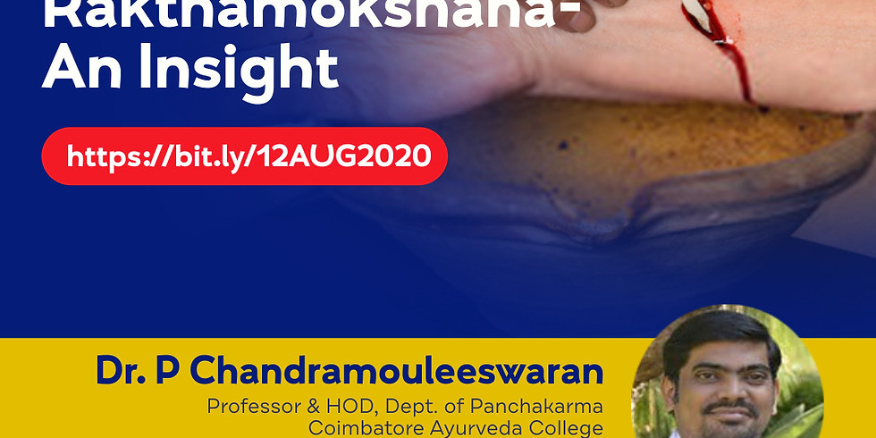 Raktamokshana- An Insight   Dr. P Chandramouleeswaran