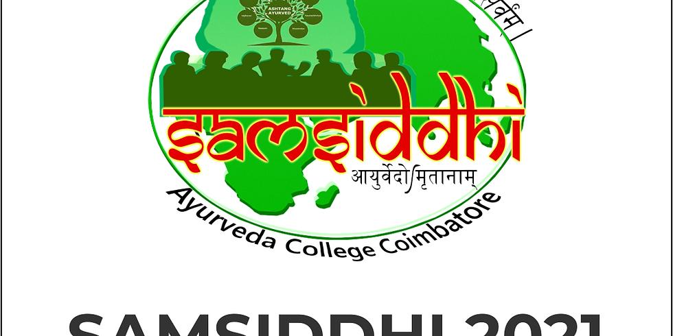 SAMSIDDHI 2021 | Ayurveda Decoded | International Webinar Series