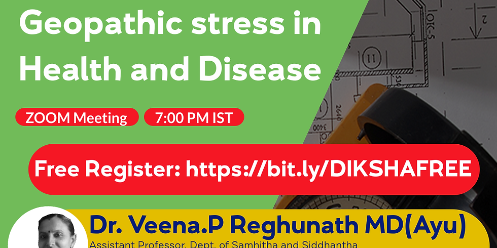 Application of Vaasthu & Geopathic stress in  Health and Disease   Dr. Veena.P Reghunath MD(Ayu)   Ayurveda College Coi