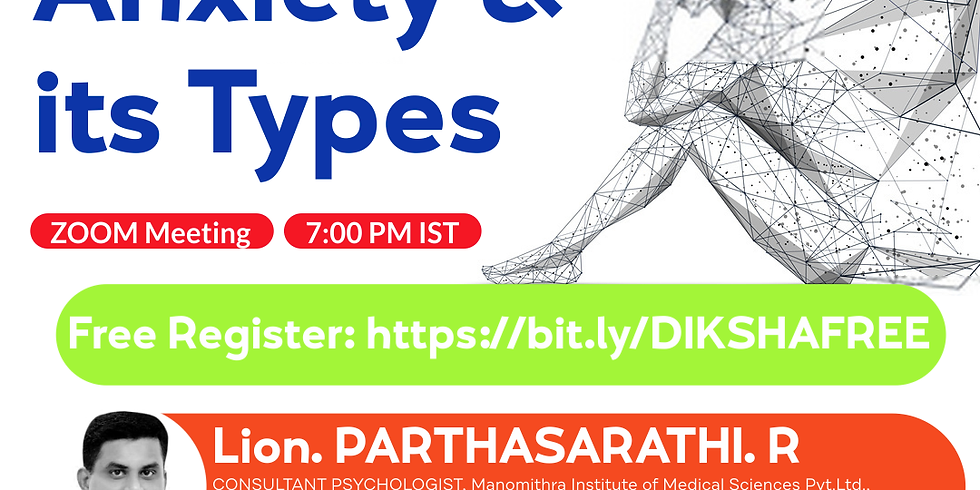Anxiety & It's types | Parthasarathi R | Ayurveda College Coimbatore
