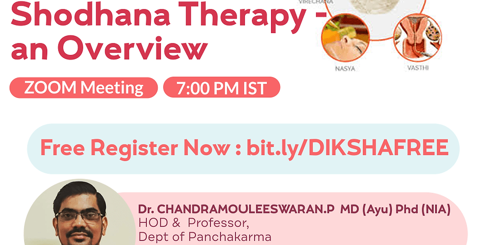 Concept &  Implementation of  Shodhana Therapy - an Overview | Dr. CHANDRAMOULEESWARAN.P  MD (Ayu) Phd (NIA)  | AVC
