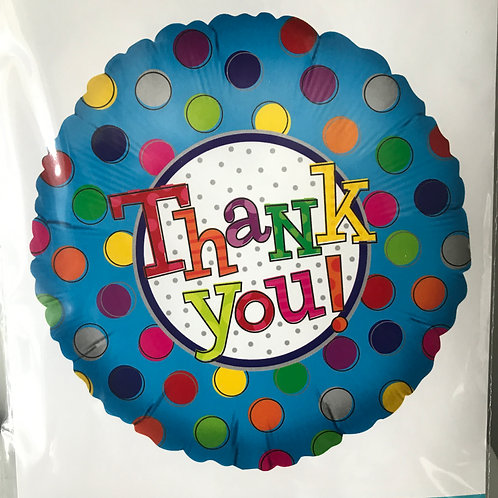 """Thank You"" Colorful Dots Balloon"