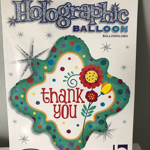 """Thank You"" Flower Balloon"