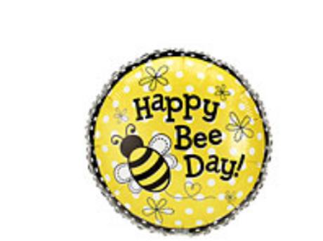 Happy Bee Day Mylar Balloon