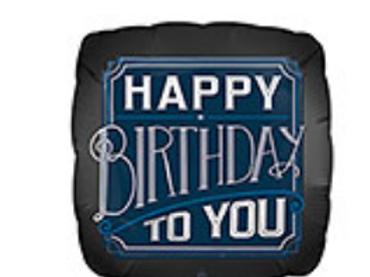 Happy Birthday to You Mylar Balloon