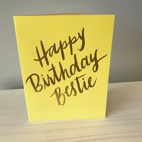 Happy Birthday Bestie Greeting Card