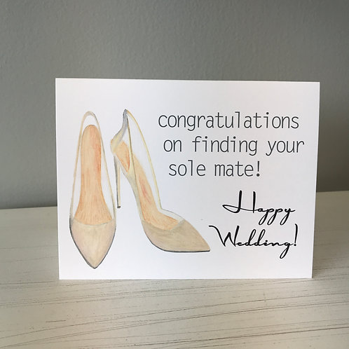 Sole Mate Wedding Greeting Card