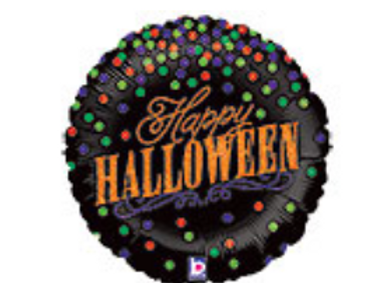 Happy Halloween Confetti Mylar Balloon