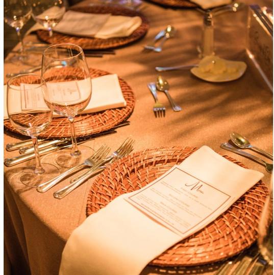 Elegant Table Setting for an Adult Dinner