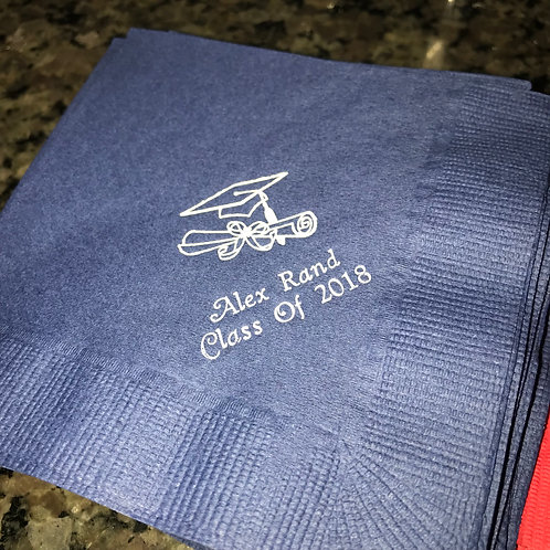 Personalized Graduation Napkins