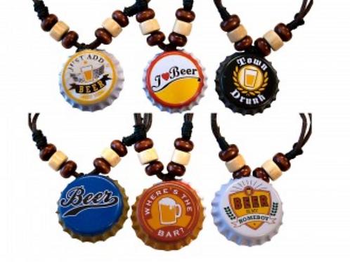 Beer Bottle Cap Adjustable Beaded Necklace