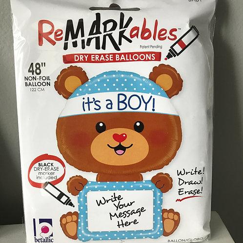 """""""it's a Boy"""" Remarkable Bear Balloon"""