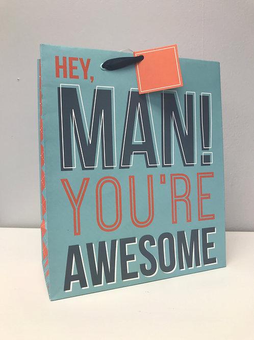 Medium Man You're Awesome Gift Bag