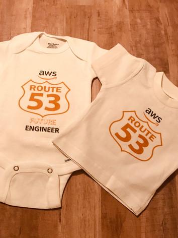 Custom Amazon AWS Onesie and Baby T-Shirt