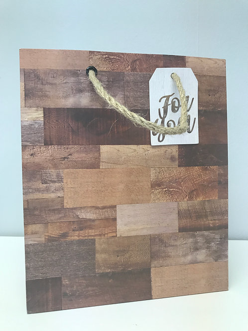 Medium Wood Grain Gift Bag