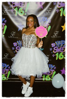 Sweet 16 Backdrop and Custom Photo Prop