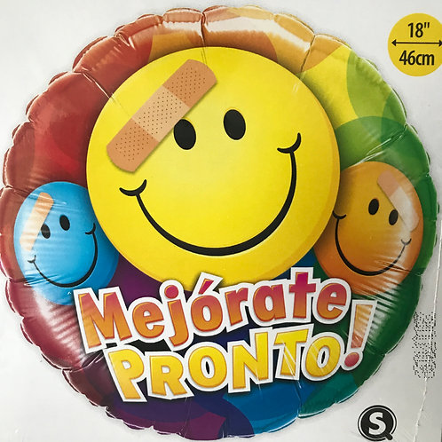 """Mejorate Pronto"" Spanish Get Well Balloon"