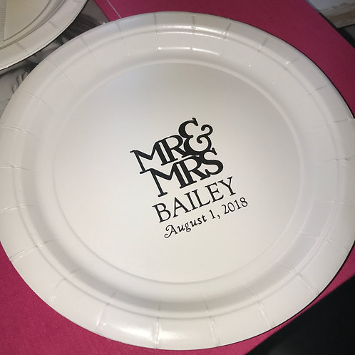 Mr and Mrs Dessert Plates