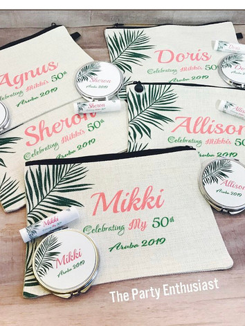Personalized Makeup Bags and Compact Mir