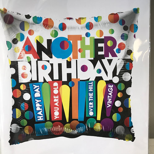 """""""Another Birthday"""" Colorful Balloon"""
