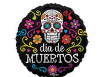 Dia De Muertos - Day of the Dead Sugar Skull Mylar Balloon