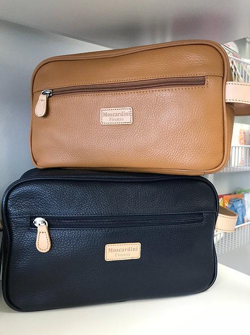 Moscardini Italian Leather Toiletry Bag