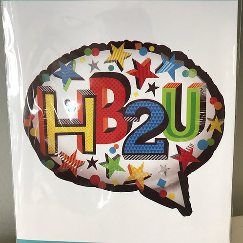 """HB2U"" Speech Bubble Balloon"