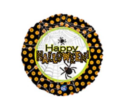 Happy Halloween Spider Mylar Balloon