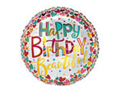 Happy Birthday Beautiful Mylar Balloon