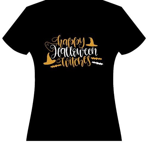 Happy Halloween Witches Ladies Tee (2 Colors)