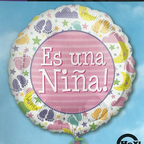 """""""Es una Nina"""" Spanish It's a Girl Balloon"""