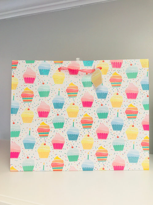 Large Cupcake Gift Bag