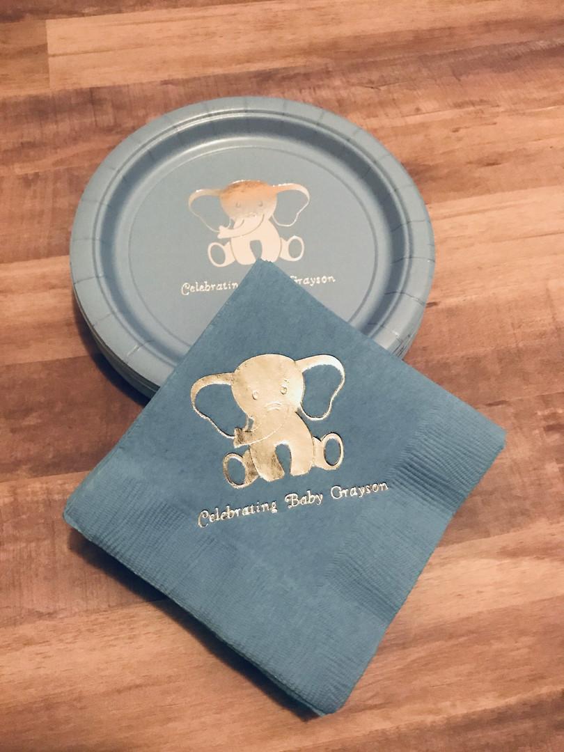 Elephant Napkins & Plates