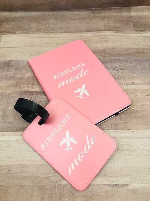 Airplane Mode Passport and Luggage Tag Set
