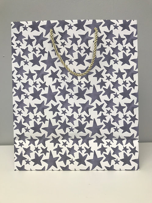 Medium Blue Stars Gift Bag