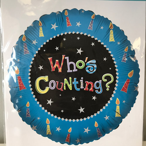 """""""Who's Counting"""" Balloon"""