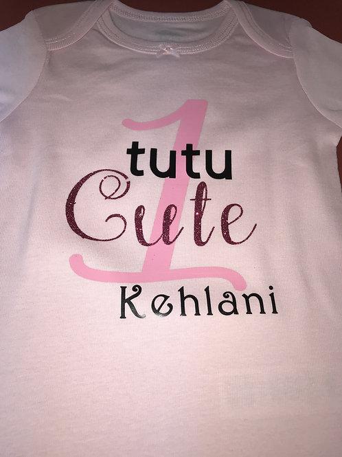 Personalized Tutu Cute Onsie
